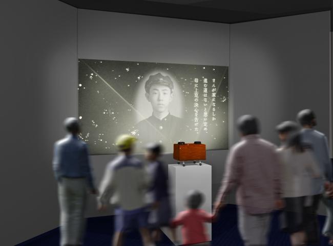 藤子・F・不二雄氏の手作り「幻燈機を再現し、藤子氏の写真と言葉で綴った「ふるさと高岡の記憶」の映像(約4分)を紹介